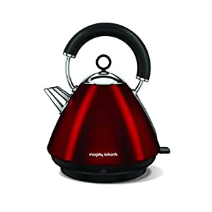Morphy Richards Pyramid Kettle Accents 102029 Red Traditional Electric Kettle
