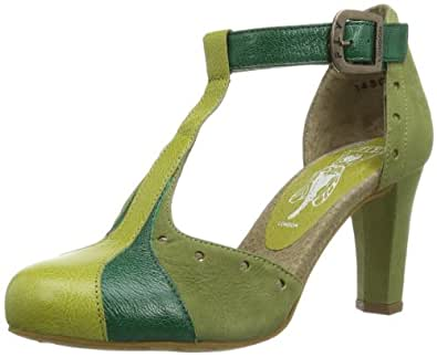 Fly London Women's HARG Court Shoes multi-coloured Mehrfarbig (PISTACHIO/DK GREEN/LT GREEN 004) 38