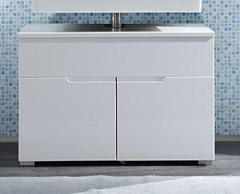 172431 Waschbeckenunterschrank Weiss HG