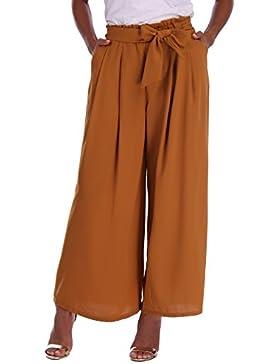 Abollria Donna Pantaloni Eleganti a Vita Alta con Cintura Pantaloni Larghi a Palazzo per Ufficio, per Primavera...