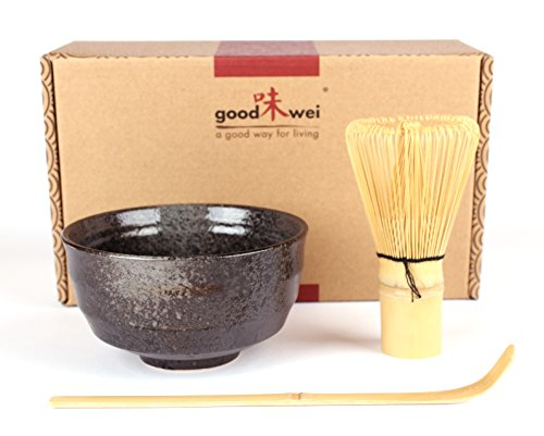 Goodwei Japanese Matcha Tea Ceremony Set (Black) Test