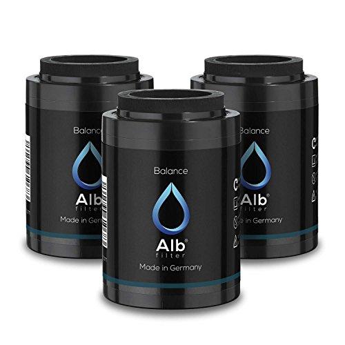 Alb Filter Balance 3er-Set Duschfilter Ersatzkartusche für gesunde Haut und Haare. Reduziert Schadstoffe. Made in Germany