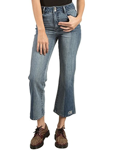 Damen Jeans Hose Volcom Wide Leg Flare Jeans (Wide Flare Jeans Leg)