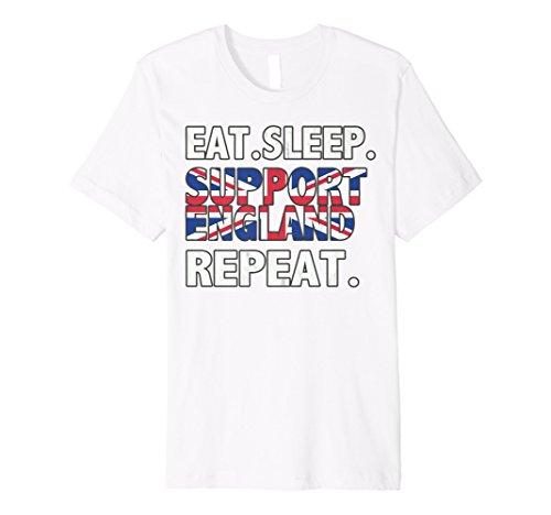 (2018Eat Sleep Unterstützung England T-Shirt Fußball Fan Jersey)