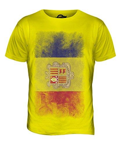 CandyMix Andorra Verblichen Flagge Herren T Shirt Zitronengelb