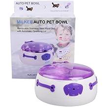 milkee automático de mascotas Dispensador de alimentos bandeja–Comedero para perros y gatos