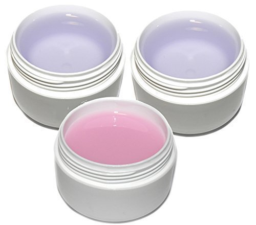 BASELINE Nagelgel Set 3*30ml: rosa Aufbaugel, Haftgel, Versiegelungsgel -