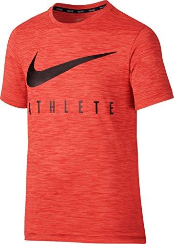 Nike B NK Dry Top SS Hyper Gfx T-shirt für naranja (max orange)