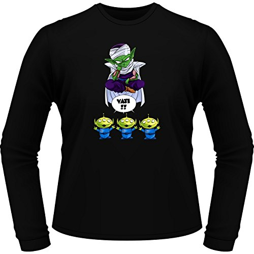 Parodie auf Piccolo von Dragon Ball Z und Toy Story Aliens - Manga Langarm T-shirt (697) Schwarz