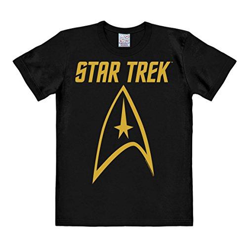 Logoshirt Series de Televisión - Star Trek - Enterprise - Emblema - Camiseta Hombre - Negro - Diseño Original con… 4