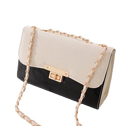 KYFW Womens Fashion Kleine Fragrant Wind Chain Bag Gürtelschnalle Schulter Messenger Bag C