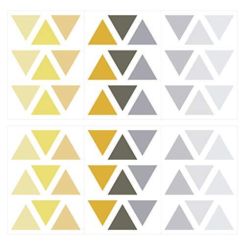 Wandtattoo Kinderzimmer Wandsticker Set Dreiecke in sommerlichen Pastellfarben