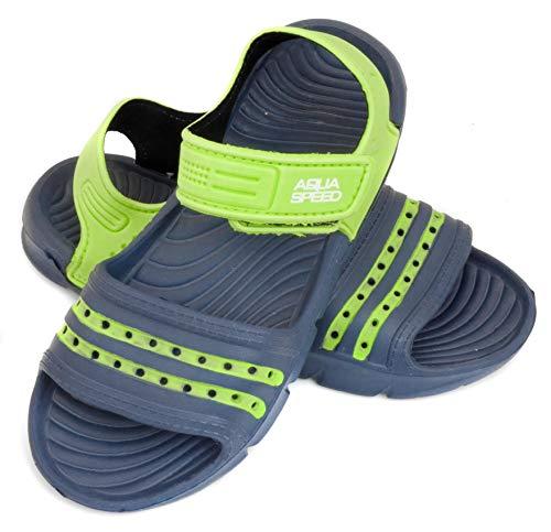 Stand-up-garten (Aqua Speed Noli Unisex Kinder Bade-Schuhe mit Schlaufe | Dusch-Schuhe | Sommer | Latschen | Clogs | Sandalen | Kinder-Schuhe | Stand-Up-Paddel-Schuhe 35 Navy Blue/Green - 48)