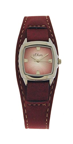 s.Oliver Damen-Armbanduhr Analog Quarz Leder SO-15045-LQR