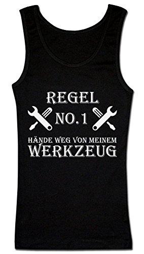 Finest Prints Regel No. 1 Hände Weg Von Meinem Werkzeug. Schraubenschlüssel Und Schraubendreher Gekreuzt Damen Tank Top XX-Large