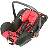 Luvlap Infant Baby Car Seat Cum Carry Cot and Rocker with Canopy Suitable for 0-15 Month Baby (0-13kgs) - Red