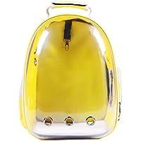 AYCC Neue Katzentasche, Haustier Tasche, Transparente Katze Rucksack, Katze Käfig, Tragbare Hund Tasche, Raumkapsel, Katzenkäfig Katzentasche, Rot, Gelb,Yellow
