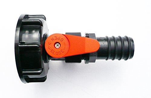 IBC adaptateur (S60 X 6) vers PP Boule Valve & 2,5 cm Tuyau barbelé Queue