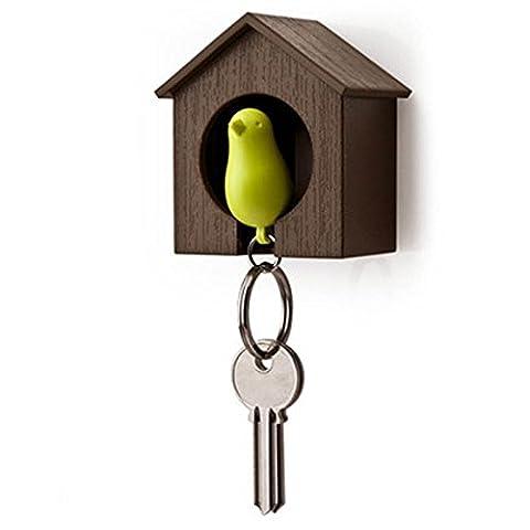 SZTARA Bird Key Holder Sparrow House Key Chain Wall Mount Hook Hanger Rack