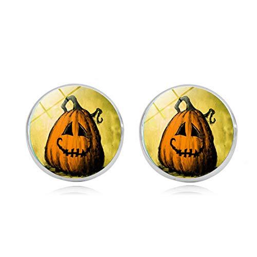 Blisfille Halloween Schmuck Zeit Edelstein Ohrringe Hypoallergenen Silber Ohrringe Herren Damen Fest