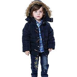 Bebone Bebé Niños Chaqueta Abrigo con Gorro para Invierno (5años)