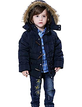 Bebone Jungen Winterjacke mit Kapuze 2-5 Jahre alt Kinder Mantel