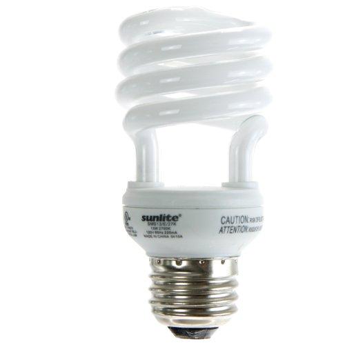 Sunlite sms13/65K/CD413Watt Super Mini Spiral Energiesparlampe CFL Leuchtmittel Medium Basis Tageslicht superkardierte 4Stück - 13w Spiral Cfl