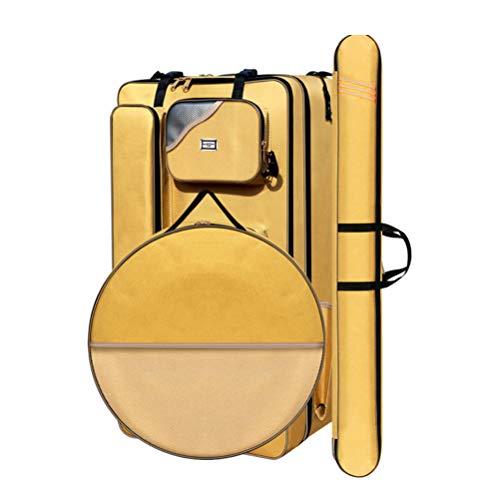 GYFSLG Tragbare Angelausrüstung Umhängetasche Fisch Tasche Angelrute Tasche Große Kapazität Oxford Tuch Material Wasserdicht Und Abriebfest 80 * 30 * 42 cm