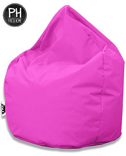 Patchhome Sitzsack Tropfenform Pink für In & Outdoor XL 300 Liter - mit Styropor Füllung in 25 versch. Farben und 3 Größen
