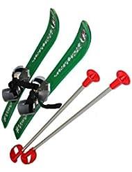Plastkon – esquís resistentes a los rayos UV para niños, Infantil, UV Resistant, verde, 69 x 21 x 5 cm