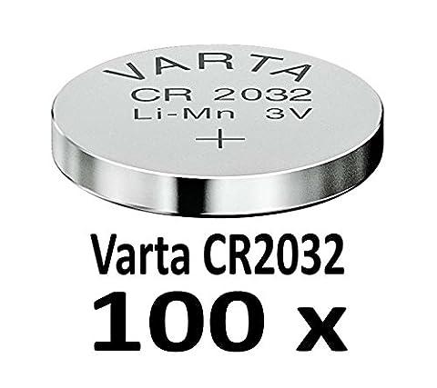 10 - 1000 Stk. (100 Stück) Variante frei wählbar Varta 2032 Knopfzelle im NEMT Pack