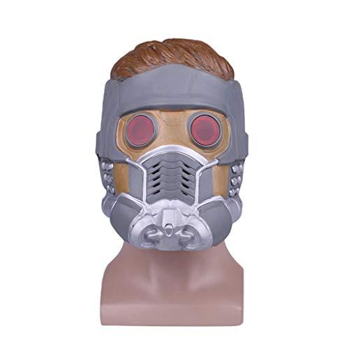Wächter Maske Cosplay Maskerade mit Glühbrille Erwachsene Helm Kostüm Halloween-Maske Aktualisierte Version Wächter der Galaxie Erwachsene Star-Lord-Maske,Star ()