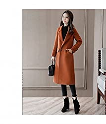 MO Fashion Autumn and Winter Women 'S Jacket Coat Long in the Large Paragraph Loose Loose Woolen Coat by MO
