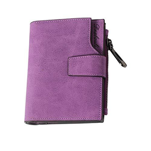 Vintage Design Zipper Hasp Wallet Women Leather Female Purse Coin Credit Card Holder Short Purse Lady Clutch Matte Wallet