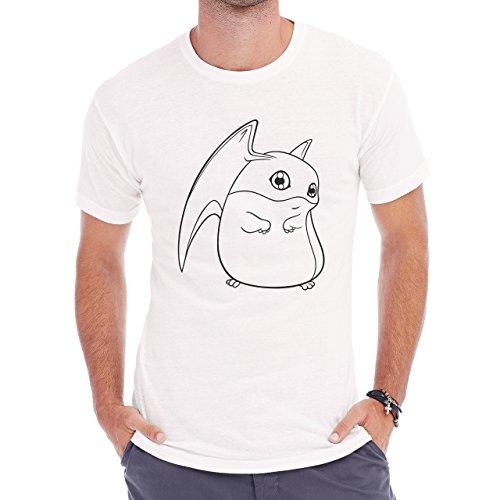 DigimonPatamon Angemon Angewoman Sketch Herren T-Shirt Weiß