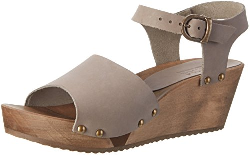 Sanita Olisa Wedge Flex Sandal, Sandales Compensées femme Gris
