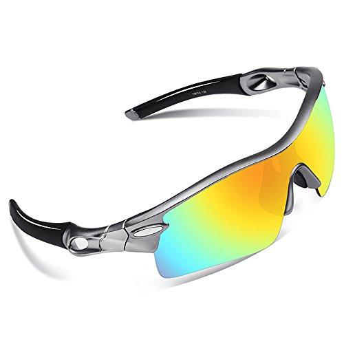 Lunettes de soleil vélo UV protection Lumière polarisée homme incassable sports cyclisme durable confort Ski, JU9Zcjklck, Cyclisme, Moto, Conduite,Course et Autres Activités Extérieur (Monture jaune,verres