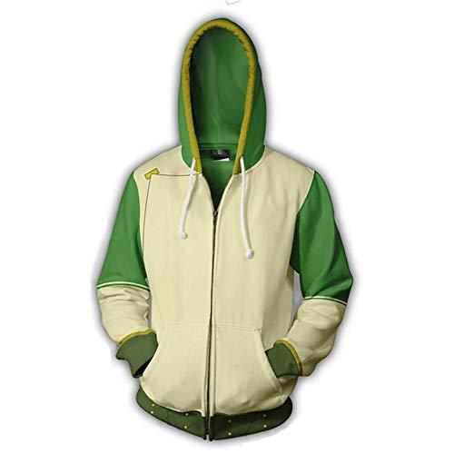 RJHWY 3D Hoodie Sweatshirt Unisex Pullover Kapuzenjacke Kleidung Mantel Reißverschluss The Last Airbender XL