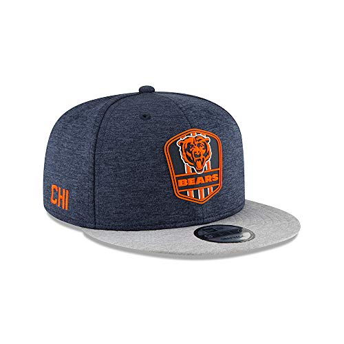 New Era NFL Chicago Bears Authentic 2018 Sideline 9FIFTY Snapback Road Cap, Größe :S/M