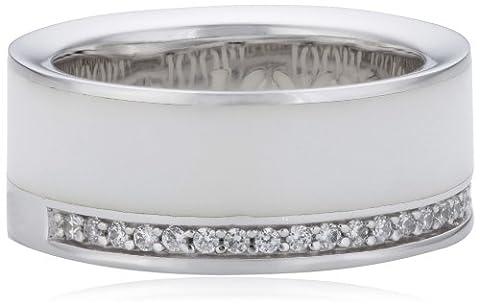 Joop Damen-Ring Epoxy Zirkonia weiss 925 Sterling Silber Gr. 55 (17.5) JPRG90653B550