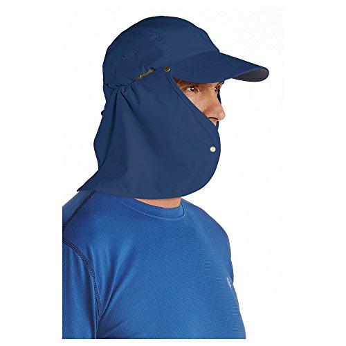 Coolibar - UV - Sonnenkappe für Herren mit Nackenschutz - Marineblau c0b0d25c6d