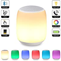 Bluetooth Lautsprecher Lampe / Touch Control Nachttischlampe, Dimmbar RGB Farbwechsel Musik lampe,Stimmungslicht... preisvergleich bei billige-tabletten.eu