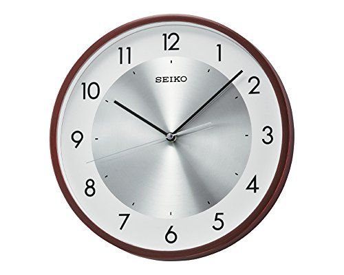 Seiko Wall Clock (30 cm x 30 cm x 4.5 cm, Brown, QXA615BN)