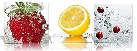 Spirit Up Art 3 Sets Cherry Strawberry Lemon Fruit Pictures Canvas Wall Artwork Giclee Prints 12