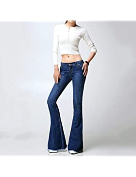 Brilliant firm Europa y Estados Unidos Pantalones vaqueros lavados Pantalones a la moda alejados Botines grandes...