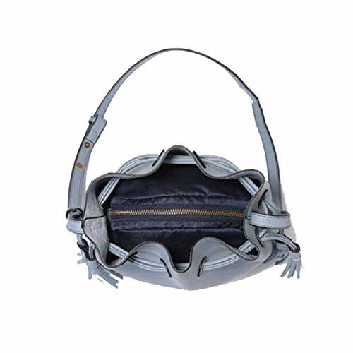 Women's Bucket Bag Einfache Persönlichkeit Messenger Bag Schultertasche,Blue Pink