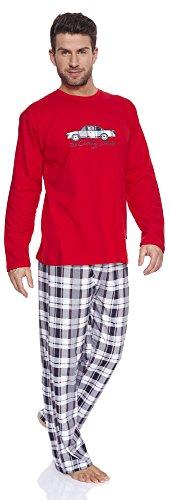 Cornette Herren Schlafanzug 124 2016 Rot(Cadillac)