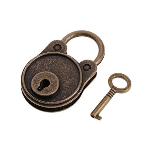 MENTIN New Bear Vintage Old Style antiguo Mini Archaize-Candado Cerradura con llave, marrón