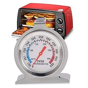 Comtervi – Termómetro de acero inoxidable con pantalla grande, para horno, pizza, horno de leña, horno de madera…