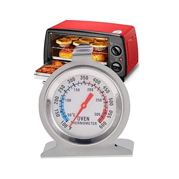 Comtervi – Termómetro de acero inoxidable con pantalla grande, para horno, pizza, horno de leña, horno de madera, termómetro de horno analógico y bimetal